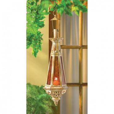 Amber Teardrop Lantern