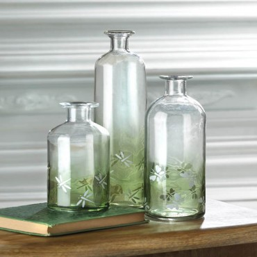 Apothecary Style Glass Bottle - L