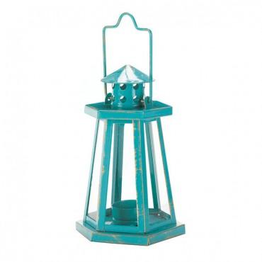 Aqua Lighthouse Mini Lantern