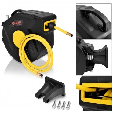 3/8 Ft. X 50 Ft. Retractable Air Compressor Hose
