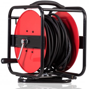 5/16 In. x 100 Ft. 1/4 In. NPT 300PSI Hand Crank Air Hose Reel