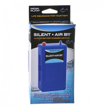 Penn Plax Silent-Air B 11 Battery Back-Up Pump - Auto On with Plug In