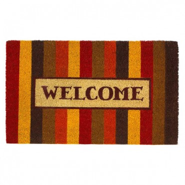 Autumn Striped Welcome Mat