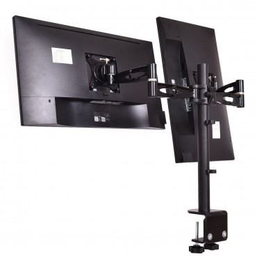 Adjustable Monitor Mount For Dual LCD Flat Screen Monitor