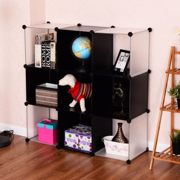 3 Tiers 9 Cubic Bookcase Storage Cabinet