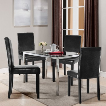 Set Of 2 Contemporary Dining Chairs