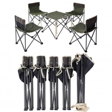 Outdoor Camp Portable Folding Table Chairs Set W / Carrying Bag