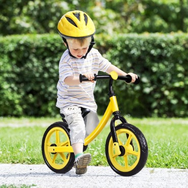 12 In. Classic Kids No - Pedal Learn Bike W / Adjustable Seat