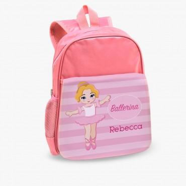Ballerina Custom Kids Pink Backpack