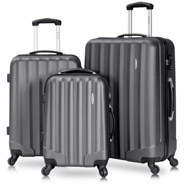 3 Pcs Luggage Travel Set Bag With Lock
