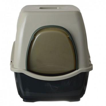 Marchioro Bill F Deluxe Hooded Litter Pan - Green - Bill 2F - 22.5 in. L x 17.75 in. W x 18.75 in. H