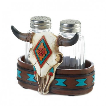 Bison Skull Salt  and Pepper Shakers