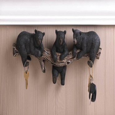 Black Bear Wall Hooks