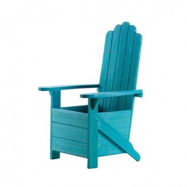 Blue Adirondack Chair Planter