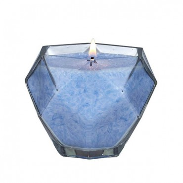 Blue Topaz Jewel Glass Candle