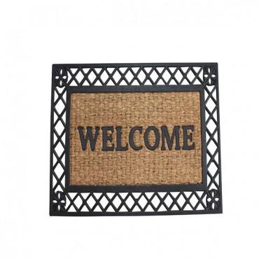 Bold Border Welcome Mat