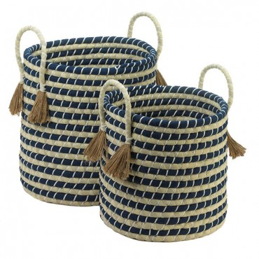 Braided Baskets With Tassels