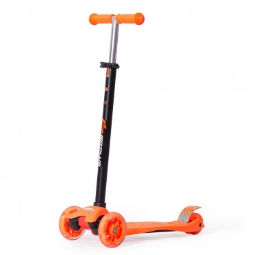 Aluminum Adjustable Height Kids Kick Scooter With 3 LED Light Wheels