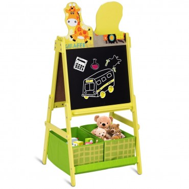 Kids Standing Chalkboard Double Sided Art Easel