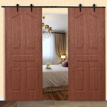 12 Ft. Steel Sliding Barn Wood Door Hardware Kit
