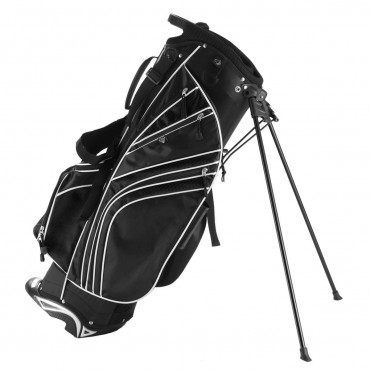 Golf Stand Cart Bag W / 6 Way Divider Carry Pockets