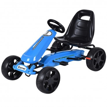 Outdoor Kids 4 Wheel Pedal Powered Riding Kart Car