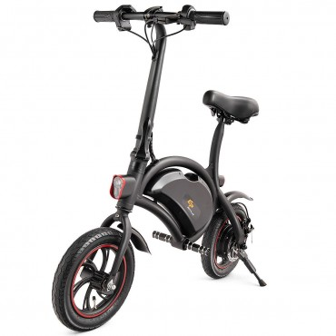 12 In. 350W Portable Folding Electric Bike EBike Cruise Control W/ Headlight APP
