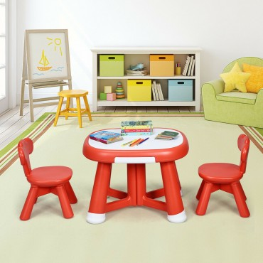 Kids Table And 2 Chair Set W / Storage Bins