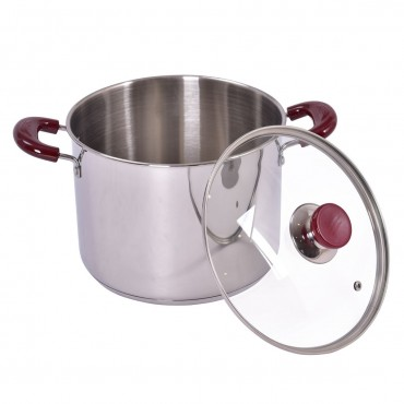 5 Pcs Stainless Steel Stock Pot 7-Quart Pasta Cooker Set
