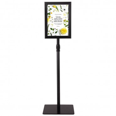 8.5 In. x 11 In. Aluminum Adjustable Pedestal Poster Stand Holder