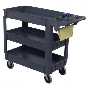 3-Tier Utility Plastic Tool Cart