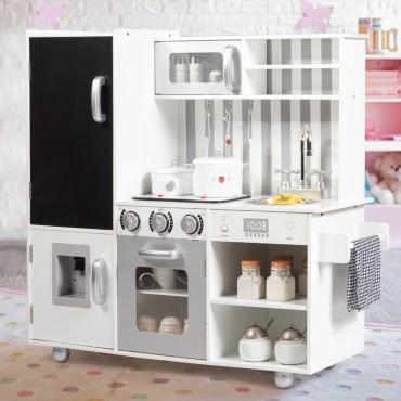 White Kids Kitchen Playset Cooking Toys