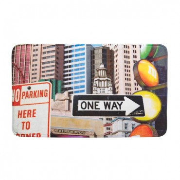 City Traffic Signs Floor Mat