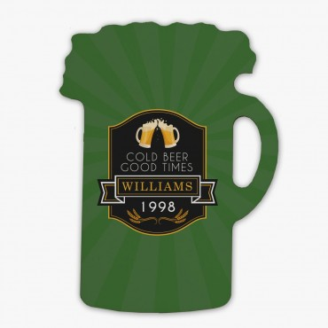 Cold Beer Good Times Custom Beer Stein Magnet