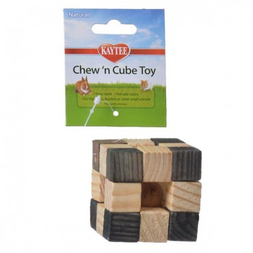 Kaytee Natural Chew 'N Cube Toy - Cube Chew Toy - 2 in. L x 2 in. W x 2 in. H - 2 Pieces