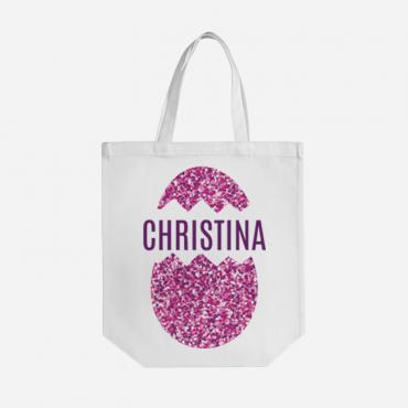 Custom Easter Egg Cotton Tote Bag