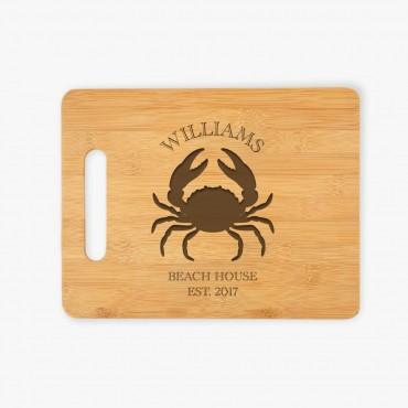 Custom Established Crab Wooden Cutting Board