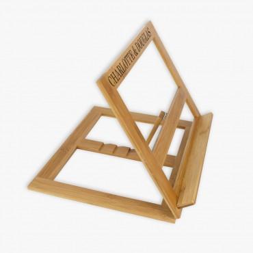 Custom Name Bamboo Book Stand