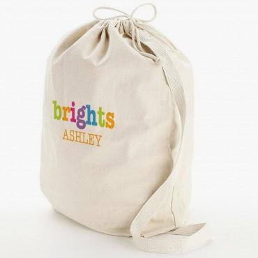 Custom Sorted Heavy Canvas Laundry Bag w/ Shoulder Strap