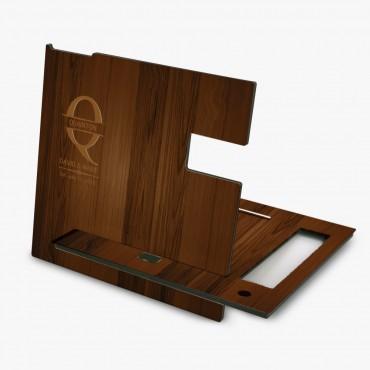 Custom Walnut Wood Color Desk Organizer