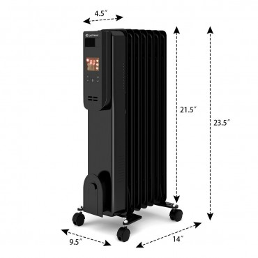 1500W LCD Electric Radiator Heater W / Remote Control