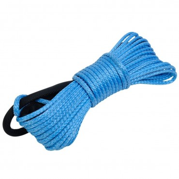 Dyneema Synthetic Winch Rope Cable 5000 ATV SUV Recovery Replacement 50 Ft. X 1/5 In.