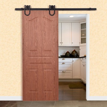 6 Ft. Steel Sliding Barn Wood Door Hardware Set