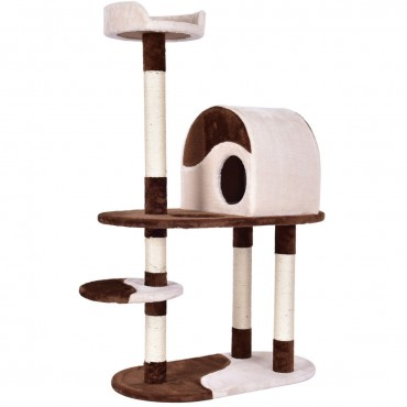 48 In. Kitten Activity Tower Cat Tree with Scratching Posts