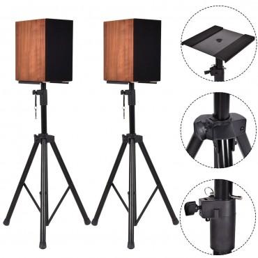 2 In 1 Studio Monitor Heavy Duty Adjustable Speaker Stands