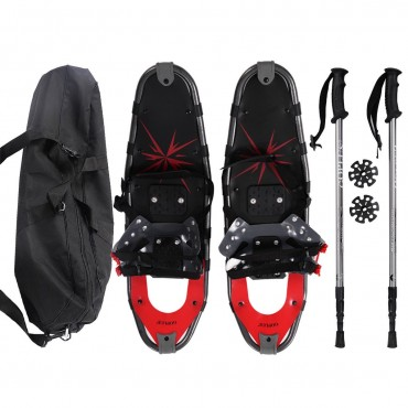 All Terrain Sports Snowshoes W / Walking Poles And Free Carrying Bag