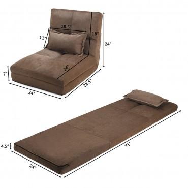 Fold Down Chair Flip Out Lounger W / Pillow
