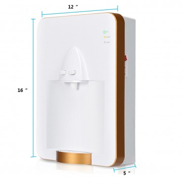 Wall-Mounted Electric Tank Water Dispenser With Removable Drip Tray