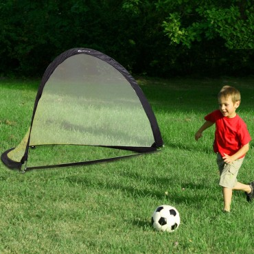 6 Ft. / 4 Ft. / 2.5 Ft. Set of 2 Portable Pop-Up Soccer Goals Net