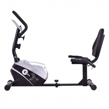 Goplus Stationary Magnet Recumbent Exercise Bike